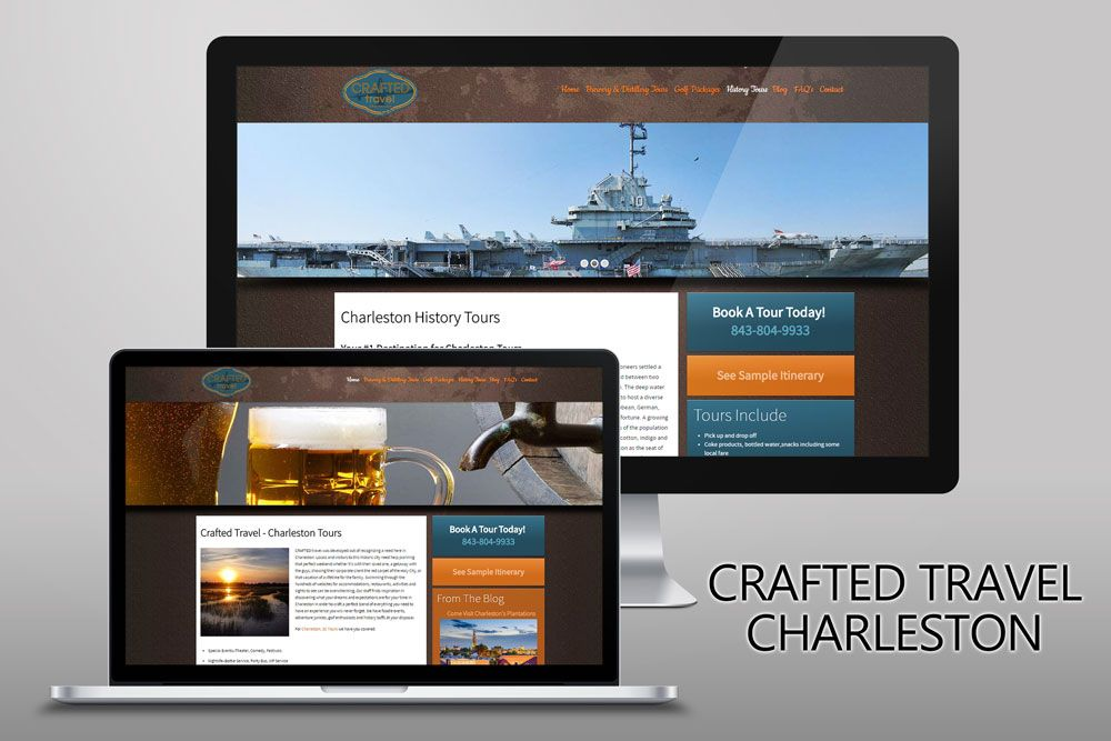 New Website For Crafted Travel Charleston