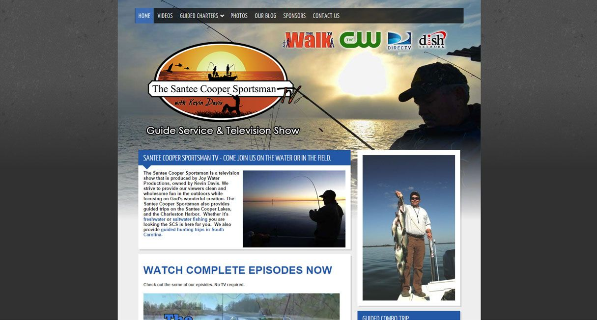 New Website for Local Fishing TV Show and Guide Service Launched