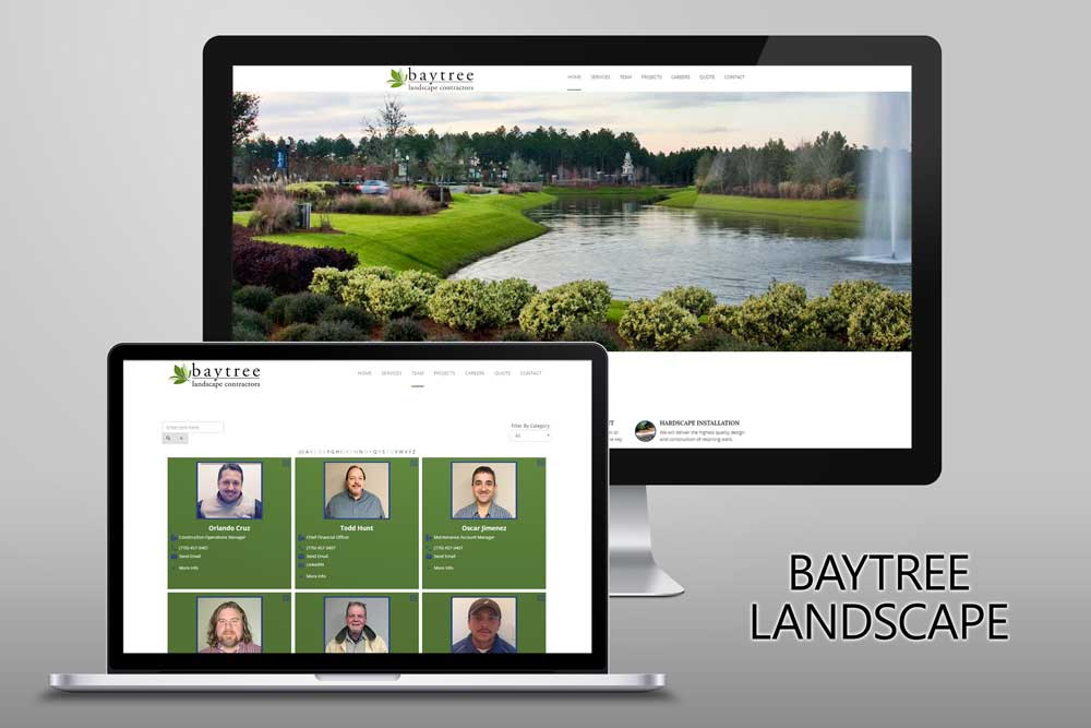 Baytree Landscape Website